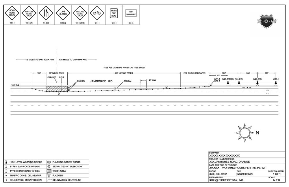 Traffic Control Plans  Engineering  Right Of Way Inc