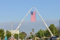 Flag hoisted for race