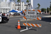 Road blocked for race