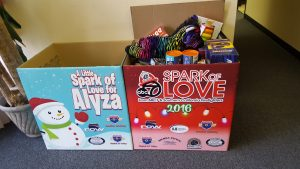 Right of Way Collects Toys for Spark of Love
